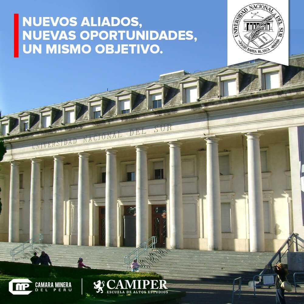 Cámara Minera del Perú y Universidad Nacional del Sur de Argentina trabajan por la minería