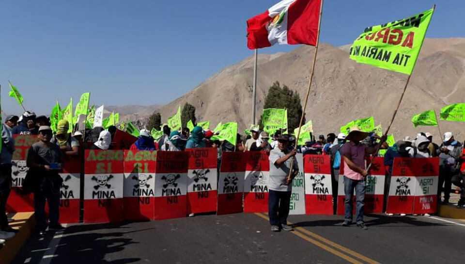 Tía María y Arequipa: región pierde US$ 13.5 mllns diario por paro