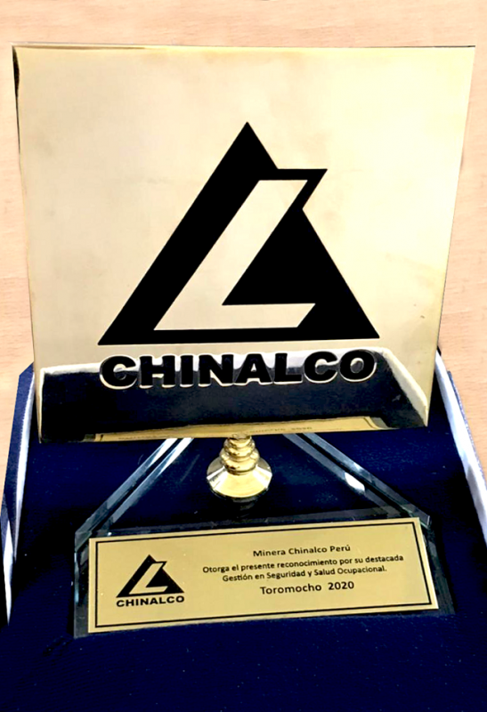 Chinalco destaca performance de seguridad