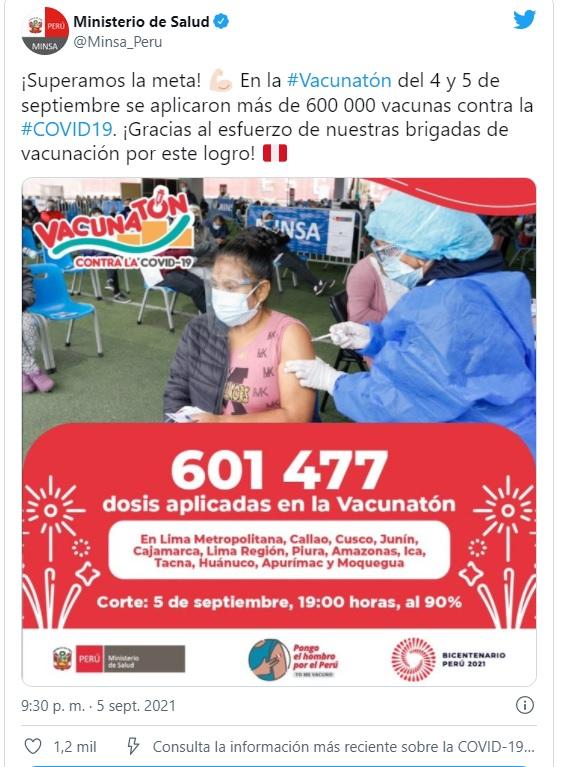MINSA: Séptima Vacunatón