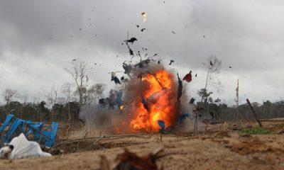 minería ilegal en la frontera con Ecuador